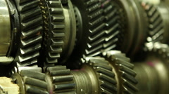 Gears Slowly Spinning Stock Footage