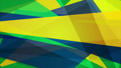 Bright geometric shapes motion design, Brazilian colors Stock Footage