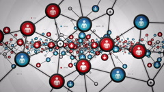 Network Of People White Stock Footage