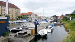 Living close to the harbor in Copenhagen is very entertaining - stock footage