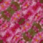 Kaleidoscopic low poly triangle style vector mosaic background - stock illustration
