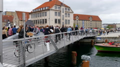 The bridge is very trafficated by commuters and tourists Stock Footage