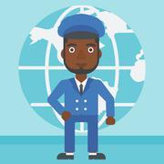 Businessman taking part in global business - stock illustration