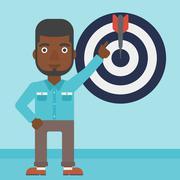 Achievement of business goal vector illustration Stock Illustration