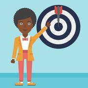 Achievement of business goal vector illustration - stock illustration