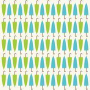 Umbrella pattern background design Stock Illustration