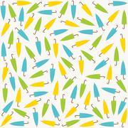 colorful umbrella pattern design - stock illustration