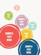 Abstract colorful round shape text banner design Stock Illustration