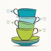 Tea cup  info-graphics design Piirros