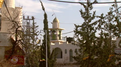 The mosque of Bilin, a Palestinian village in the West Bank Stock Footage