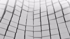 White cubes surface waving. Seamless loop 3D animation 4k UHD (3840x2160) Stock Footage