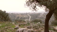 Bilin, a Palestinian village in the West Bank Stock Footage
