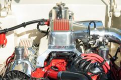 High performance engine bay Stock Photos