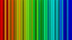 Rainbow gradient lines 3D render loopable animation 4k UHD (3840x2160) Stock Footage