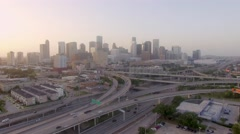 Aerial view of Downtown Houston Arkistovideo