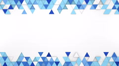 Blue extruded triangles 3D render loopable animation 4k UHD (3840x2160) Stock Footage