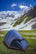 Tent at Nanga Parbat base camp Stock Photos