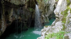 Astonishing Soca River falls Stock Footage