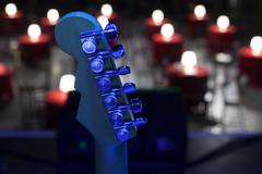 Guitar and other musical equipment Stock Photos