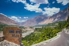 Good bye Karakorum Highway Stock Photos