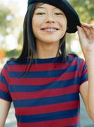 Woman wearing beret Stock Photos