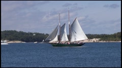 Sailboat Rockport, Maine Stock Footage