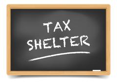 Blackboard Tax Shelter - stock illustration