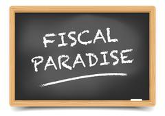Blackboard Fiscal Paradise Stock Illustration
