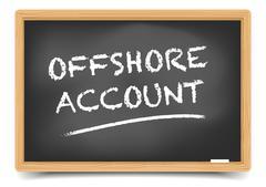 Blackboard Offshore Account Stock Illustration