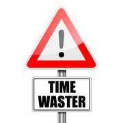 Attention Time Waster Stock Illustration