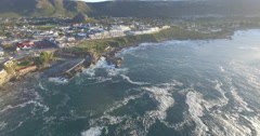 Aerial of Hermanus Town in South Africa Stock Footage