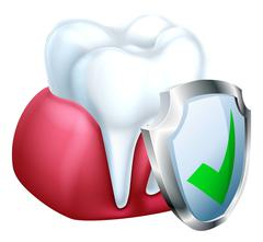 Tooth and Gum Protection Concept Stock Illustration