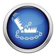 Bear hunting trap  icon - stock illustration