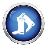Hunter's rubber boots icon - stock illustration