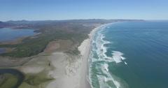 Aerial of Beach and Ocean in Hermanus, South Africa Stock Footage