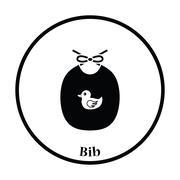 Bib icon Stock Illustration