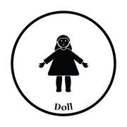 Doll toy icon Stock Illustration