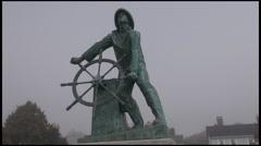 Fisherman's Memorial in Gloucester, Massachusetts Stock Footage