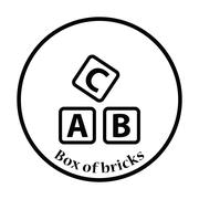Box of bricks icon Stock Illustration