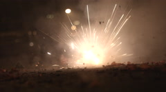 Fire Crackers In the Line of Fire Stock Footage