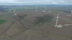 Aeriel Wind Farm Shot Stock Footage