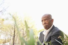 Serious African American man Stock Photos