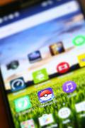 Pokemon Go App Stock Photos