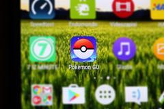 Pokemon Go App - stock photo