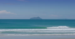 Ocean waves at Bream Bay, Marsden Point, Northland New Zealand Stock Footage