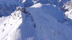 Schilthorn Piz Gloria in winter James Bond Her Majesty's Secret Service Stock Footage