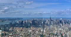 Timelapse High Angle View Manhattan Skyline and Empire State Building  	 Stock Footage