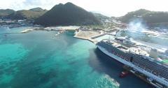 Point Blanche, Sint Maarten Cruises - stock footage