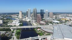 Downtown Tampa Aerial - 4K Stock Footage