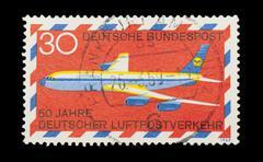 german airmail - stock photo